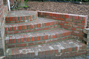 Beautiful brick steps